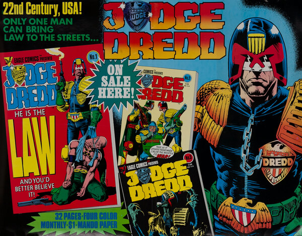 Judge Dredd Superhero Comics Poster
