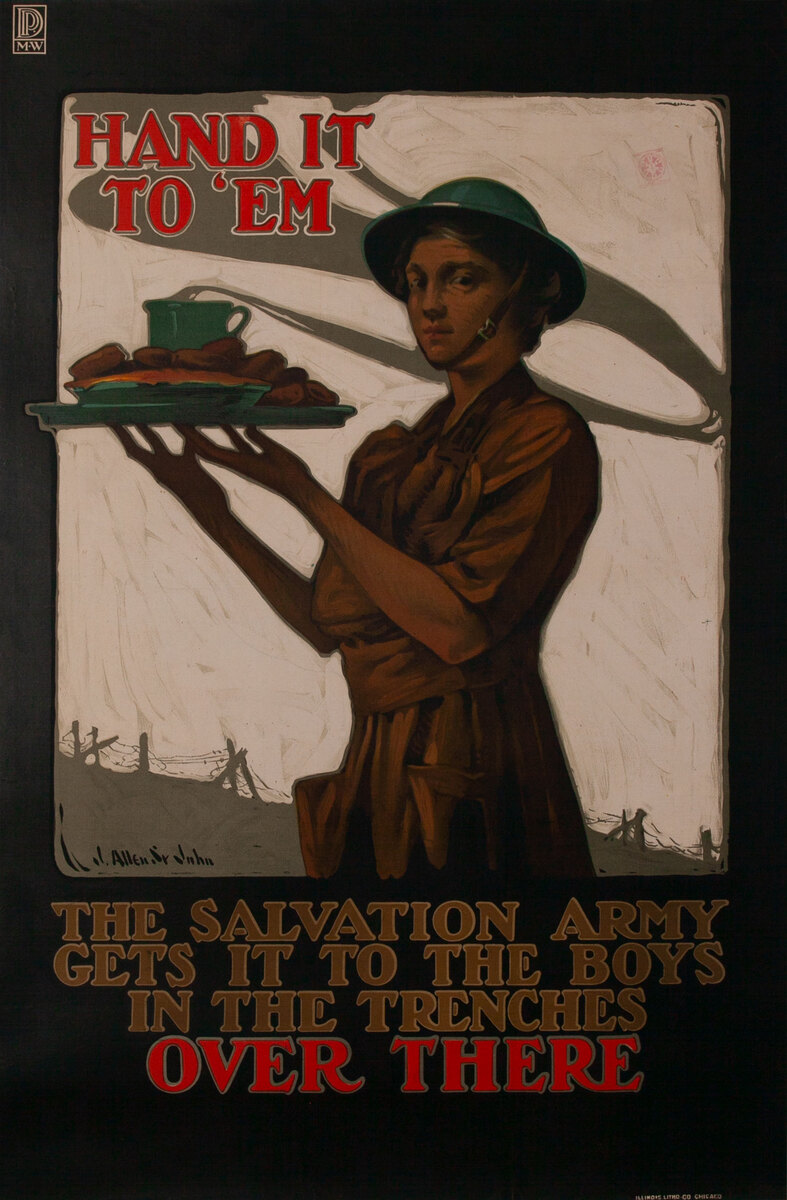 Hand it to 'Em WWI Salvation Army Poster Over There