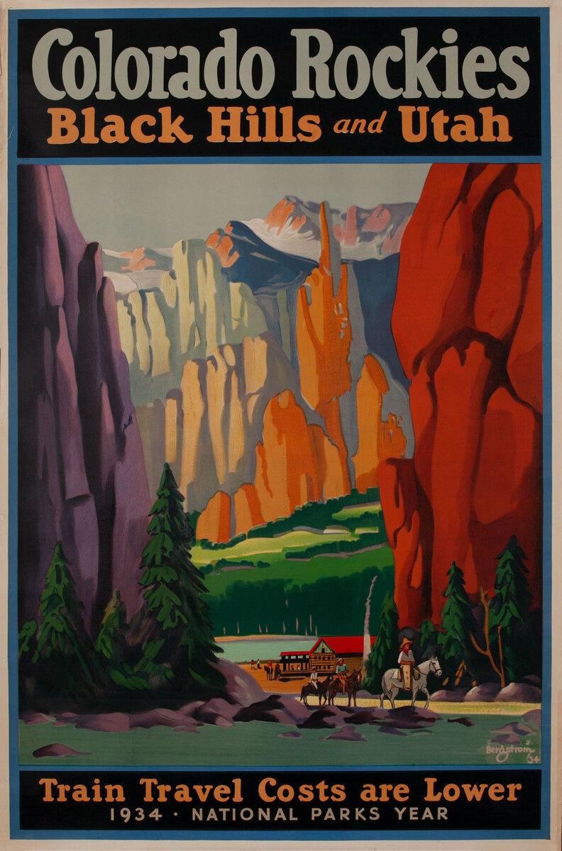 Colorado Rockies Black Hills and Utah, National Parks Year 1934