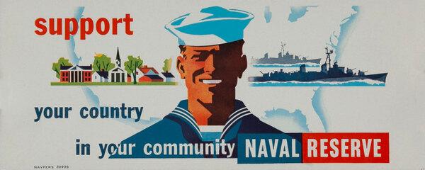 Vietnam War era Naval Reserve ink blotter