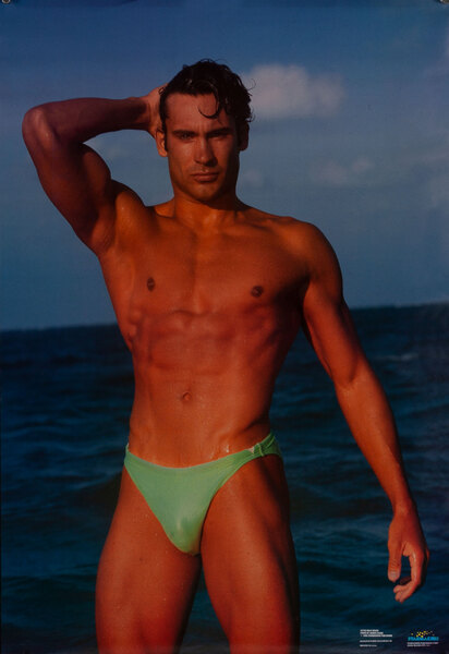 Beefcake Poster - Male Beach