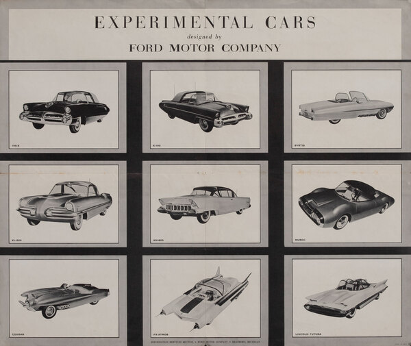 Experimmental Cars designed by Ford Motor Company