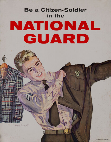 Be a Citizen Soldier in the National Guard Korean War Recruiting Card