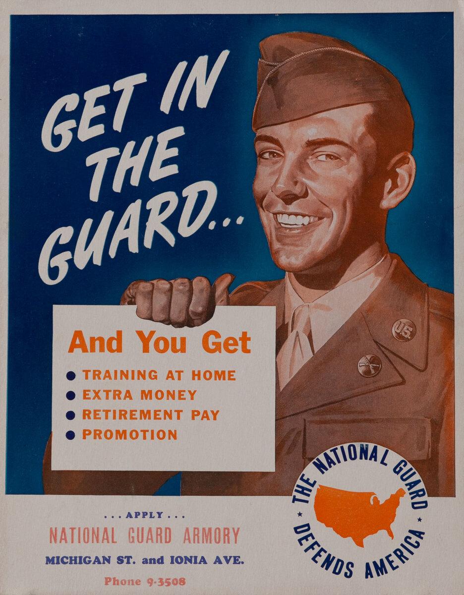 Get in the Guard- Korean War Recruiting Poster