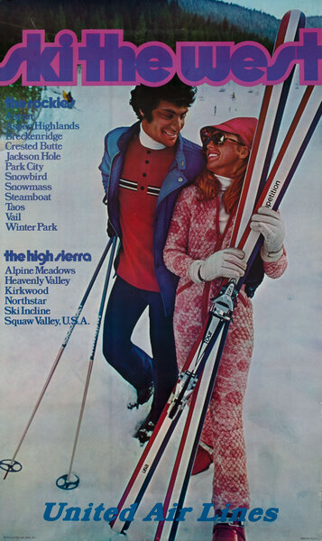 Ski the West, United Airlines <br>The Rockies - The High Sierra
