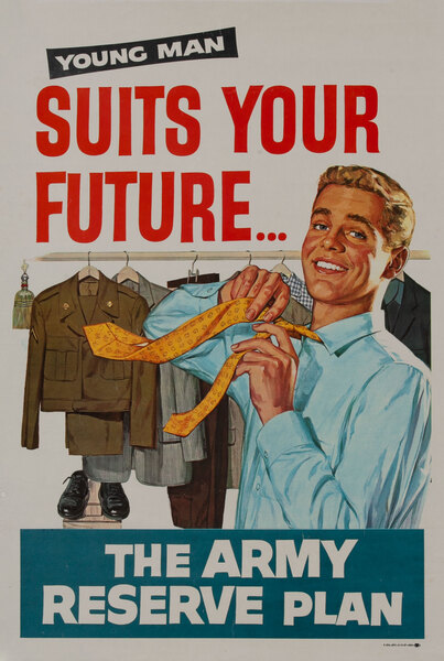 The Army Reserve Plan Suits Your Future. Vietnam War Recruiting Poster