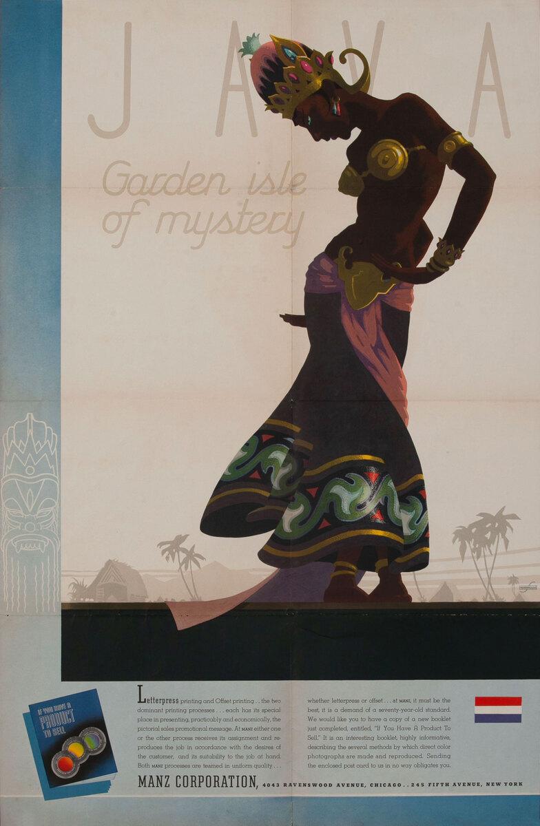 Java Garden Isle of mystery - Manz Corporation Advertising poster