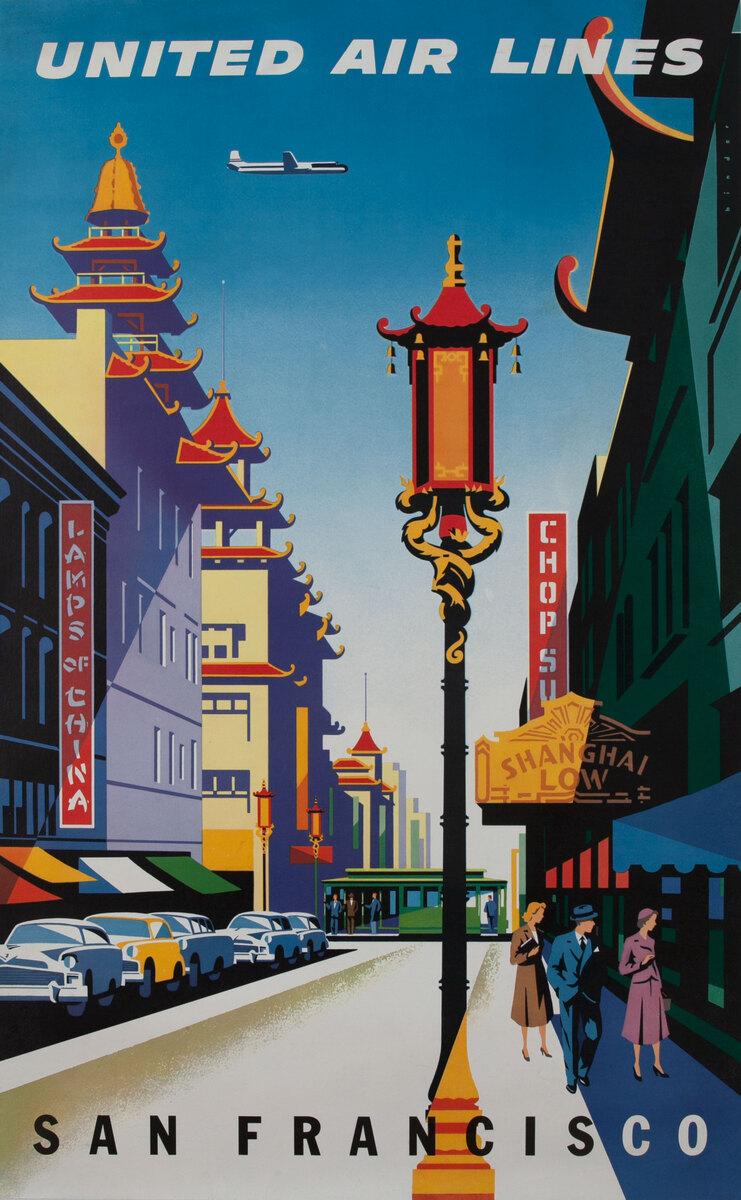 United Air Lines San Francisco  - Chinatown Binder