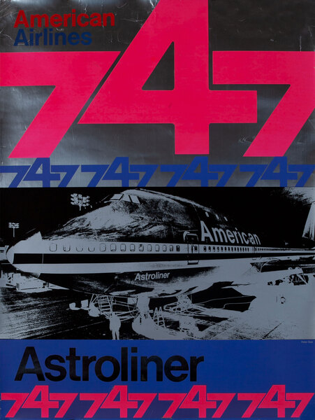American Airlines Astroliner 747 Poster