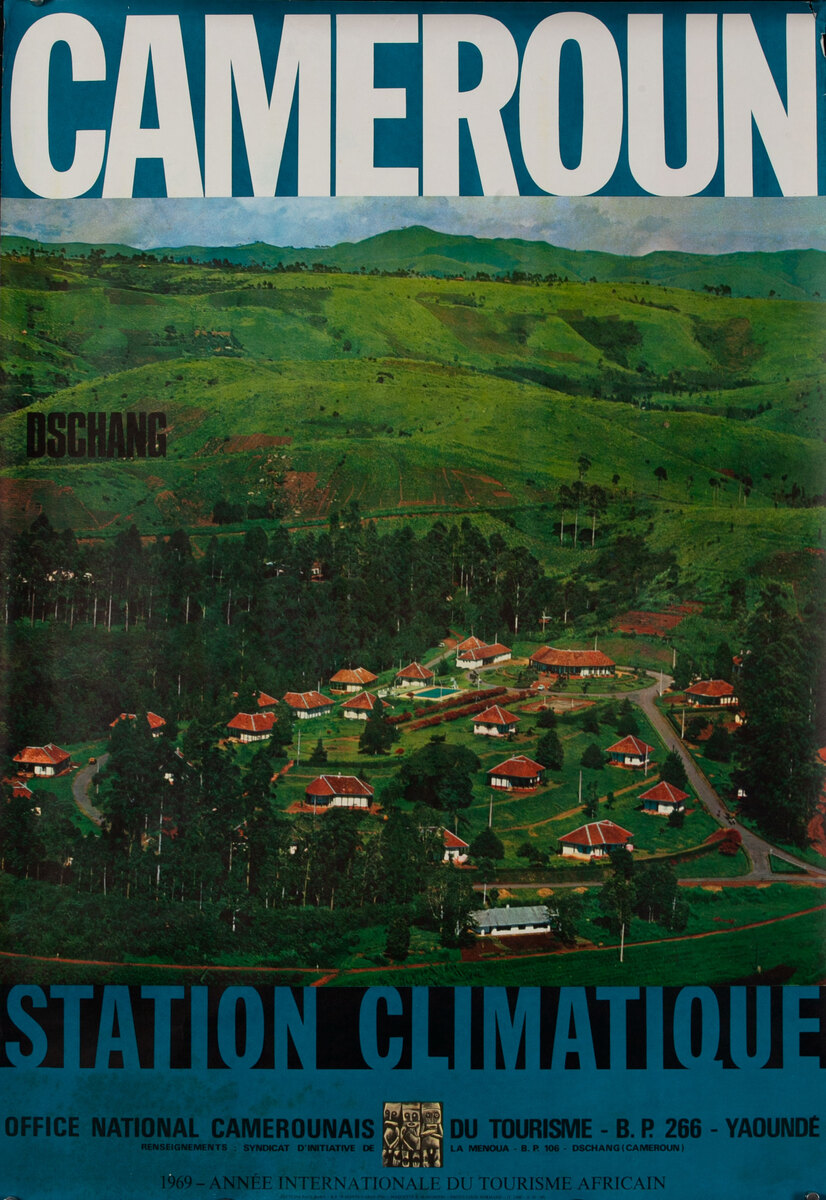Cameroun Station Climatique African Travel Poster