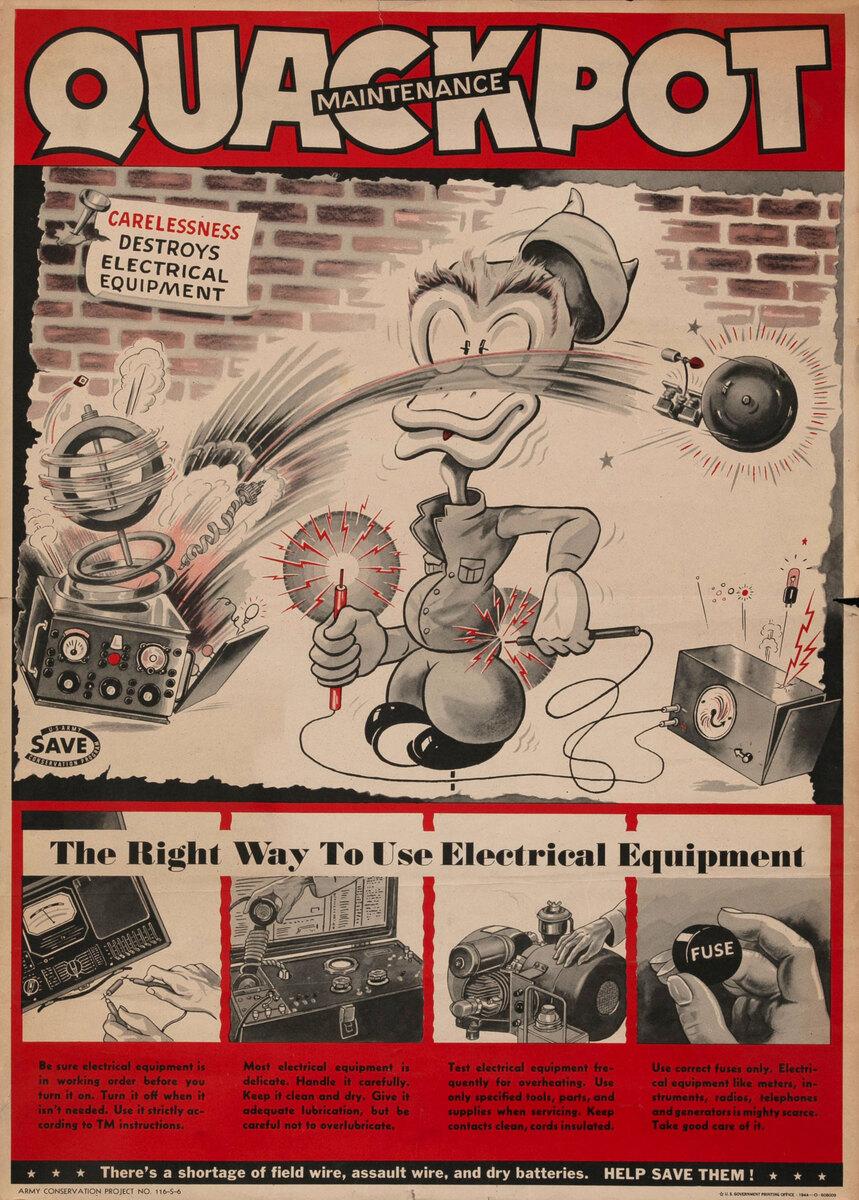 QUACKPOT-Original WWII Maintenance Poster