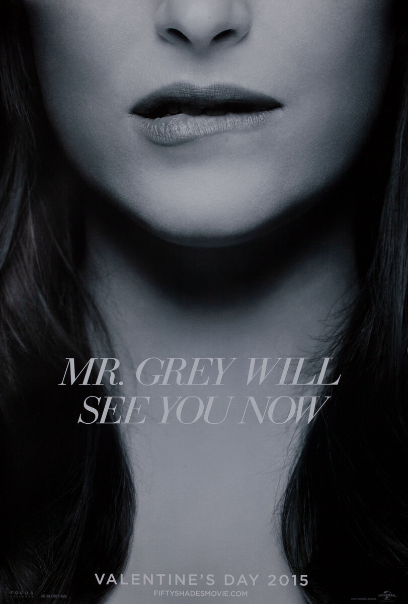 Mr. Grey Will See You Now, Fifty Shades of Grey Teaser Poster, Mrs. Grey bites her lip