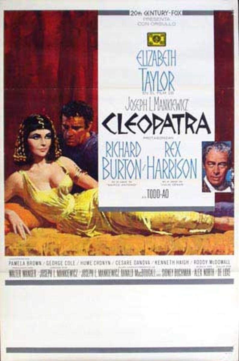 Cleopatra Spanish Release Vintage Original Movie Poster
