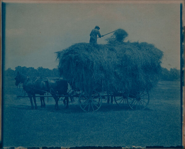 Cyanotype Farm Hay Wagon