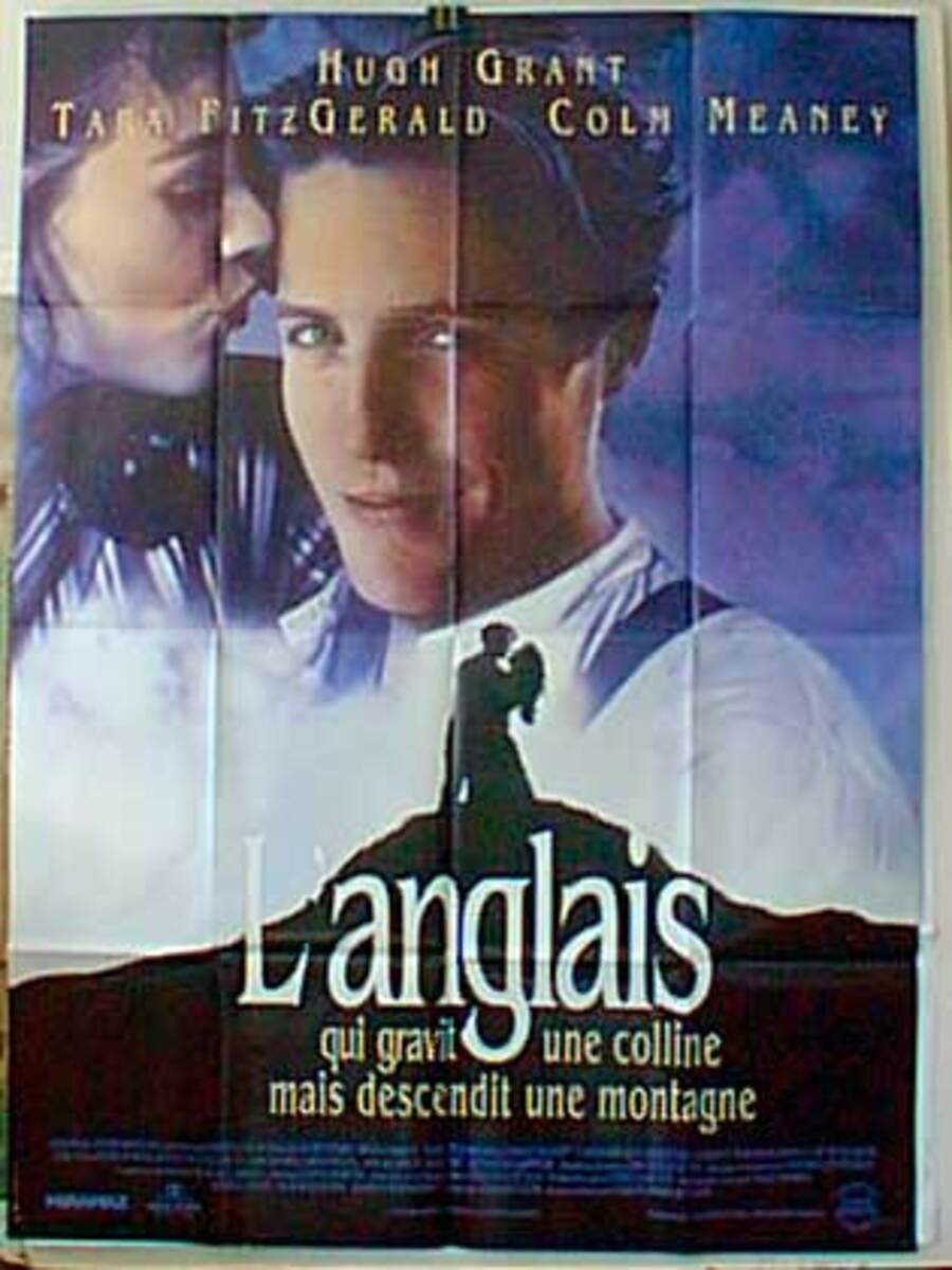 The Englishman Who Went up a Hill But Came Down a Mountain Original French Movie Poster