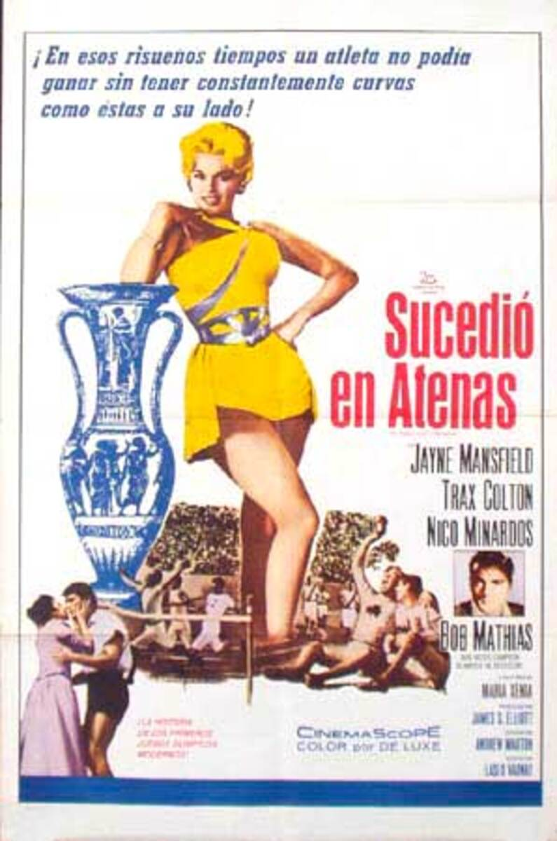 It Happened in Athens Original Vintage Movie Poster Spanish Release