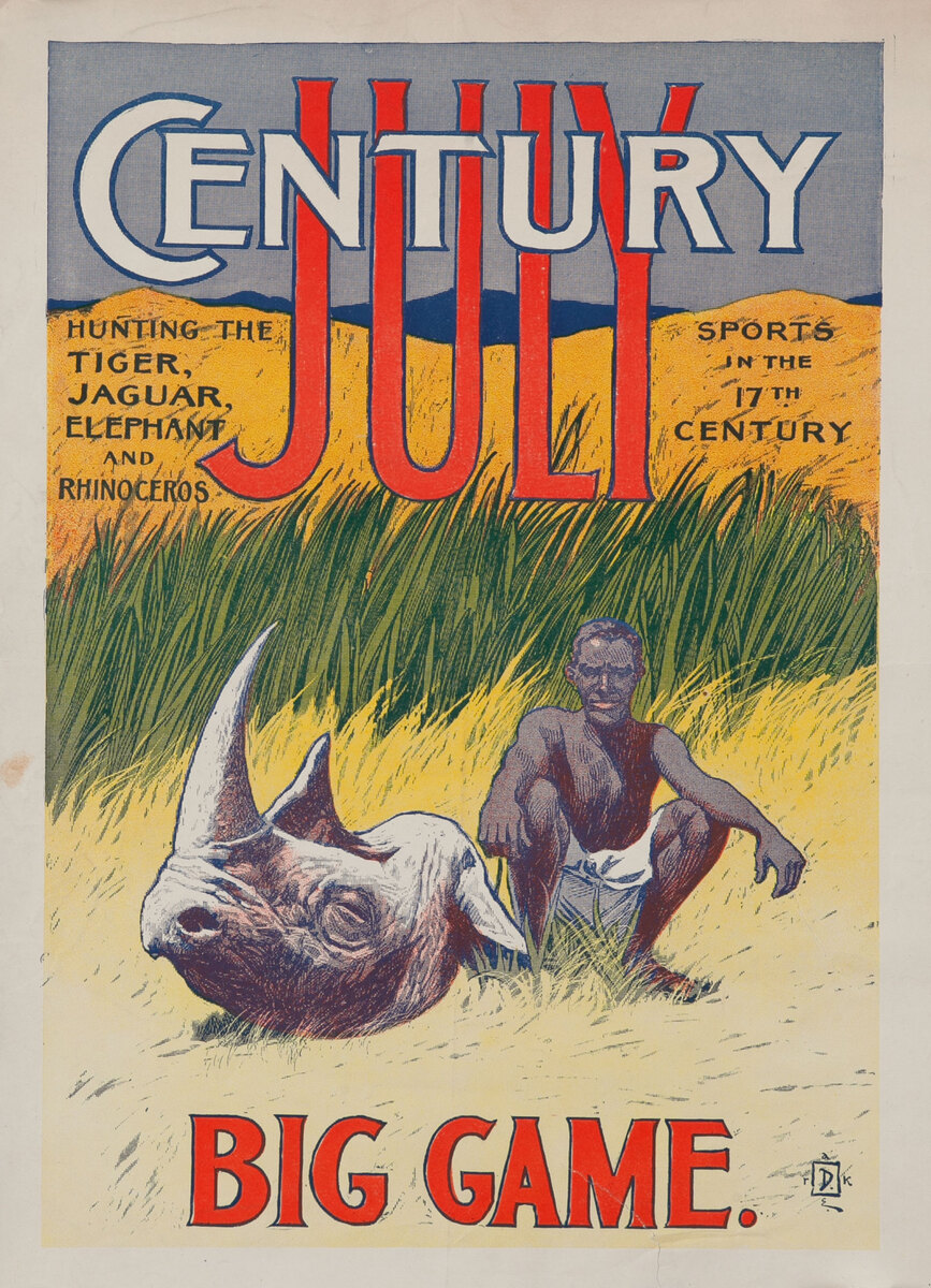 Century July  Big Game American Literary Poster