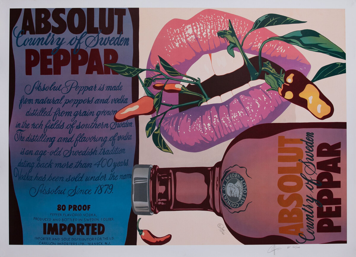 Absolut Peppar Advertising Poster