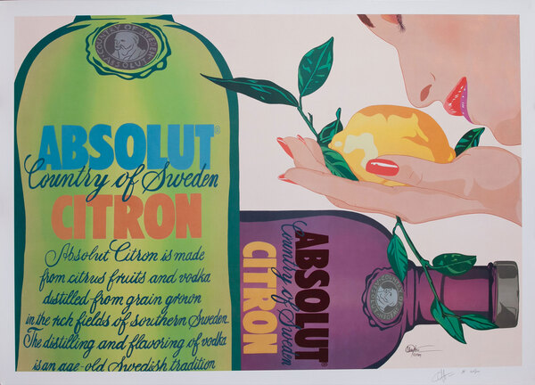 Absolut Citron Advertising Poster