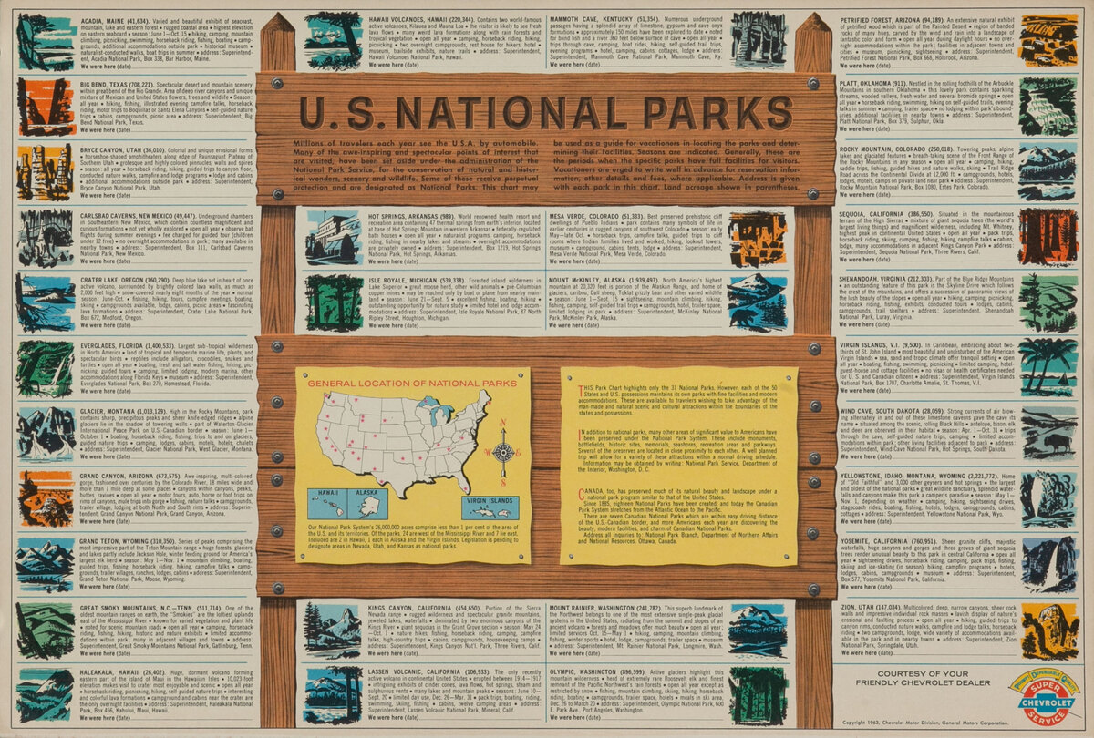 National Parks Chevrolet Giveaway Poster