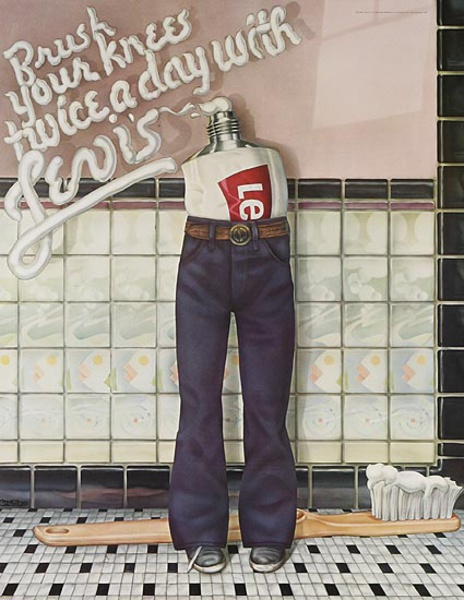 Brush Your Knees Twice a Day With Levi's Pants Original Advertising Poster