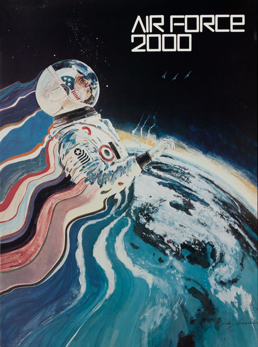 Air Force 2000 AFROTC Recruiting Poster - Spacesuit