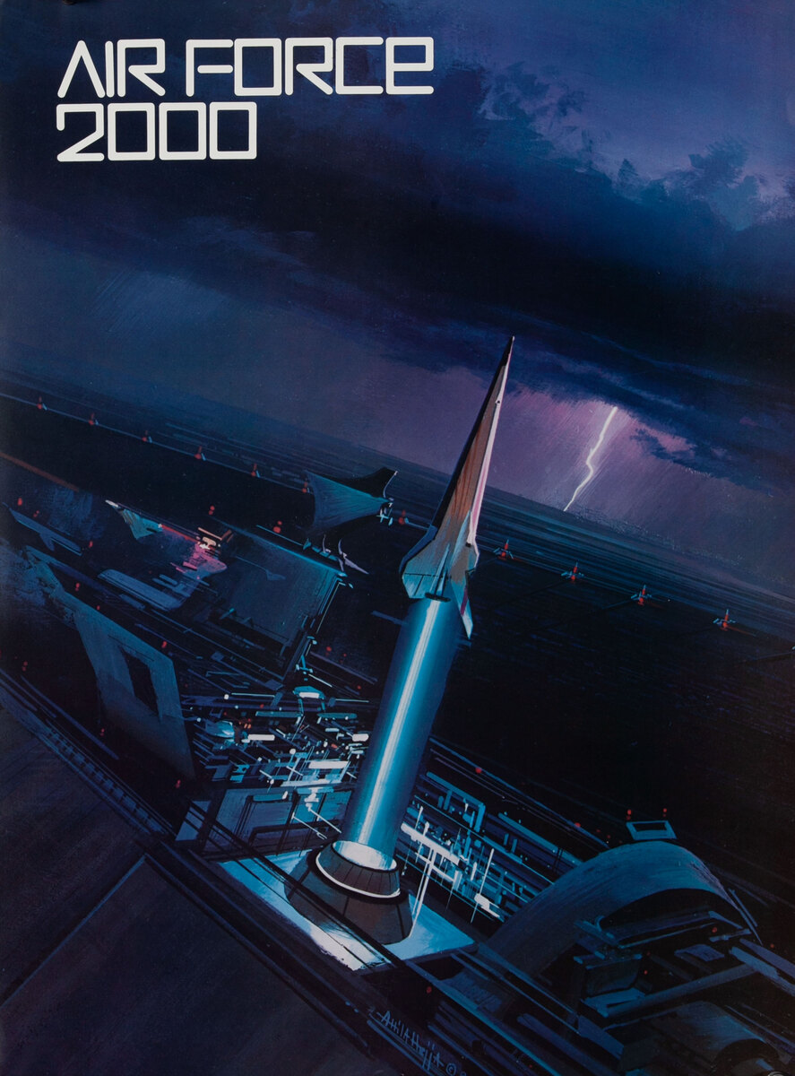 Air Force 2000 AFROTC Recruiting Poster - Rocket Launch