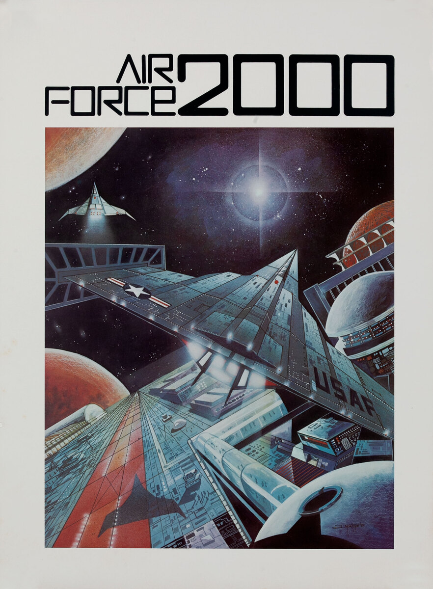 Air Force 2000 AFROTC Recruiting Poster - Space Station