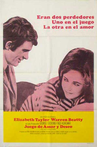 The Only Game in Town Original Vintage Movie Poster Spanish Release