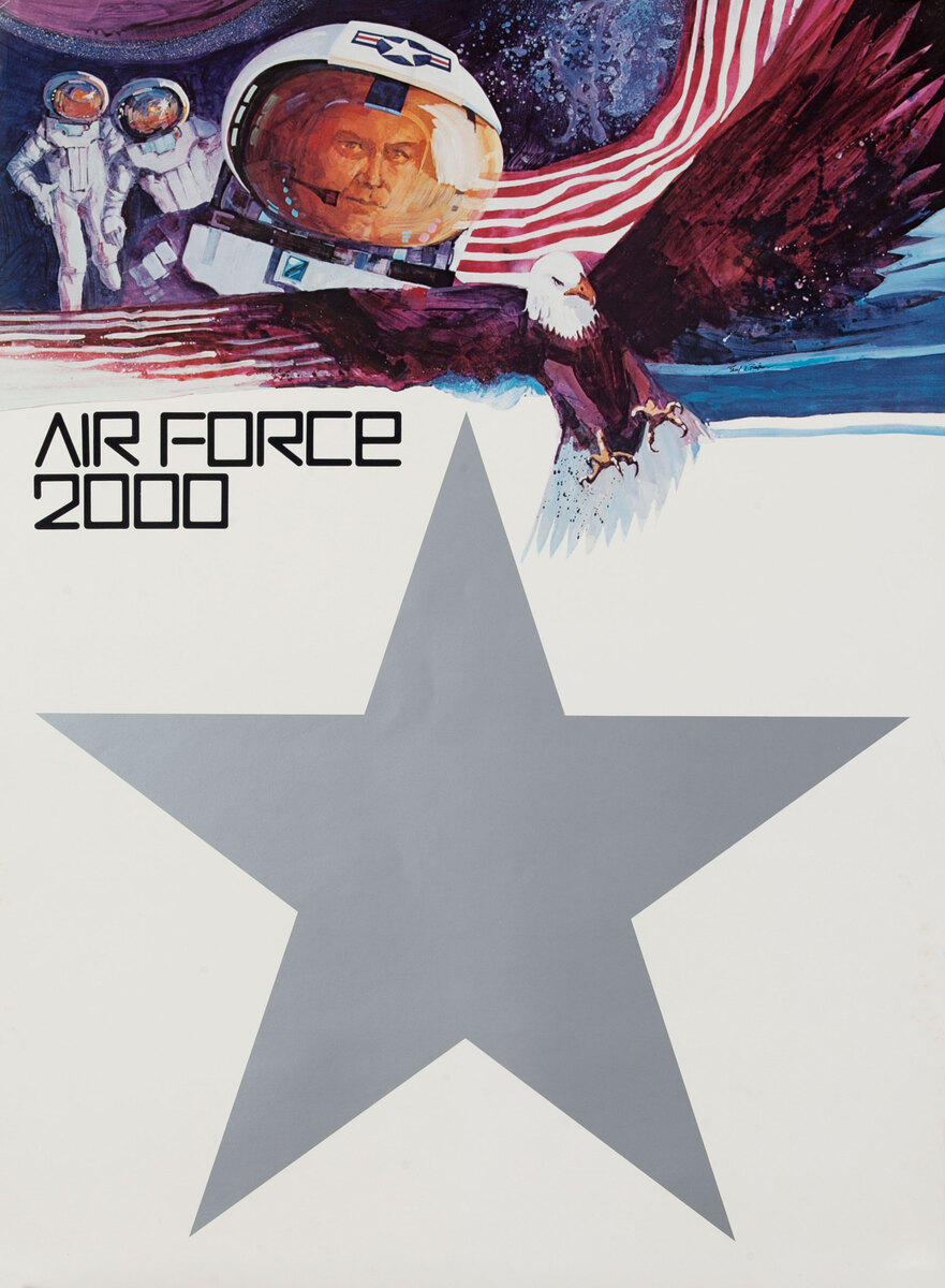 Air Force 2000 AFROTC Recruiting Poster - Astronauts