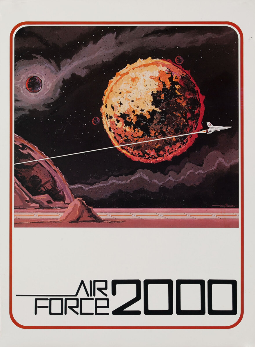 Air Force 2000 AFROTC Recruiting Poster -deep space rocket