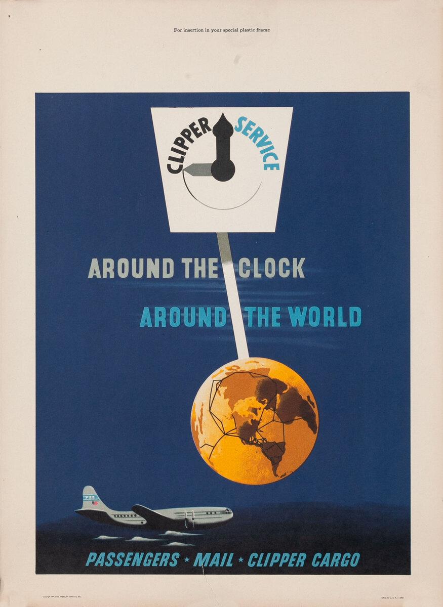 Pan Am Clipper Service Around the Clock Around the World