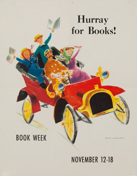 Hurray for Books - 1961 Children's Book Week Poster