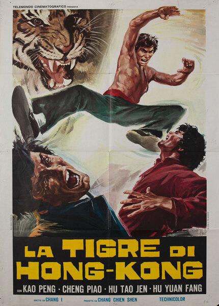 La Tigre di Hong Kong Italian Kung Fu Movie Poster