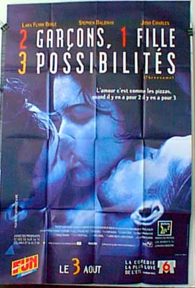 Threesome Original French Movie Poster
