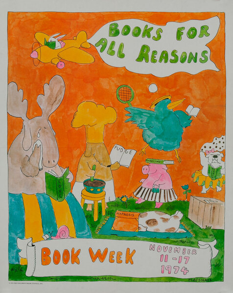 Books for All Reasons - Children's Book Week Poster
