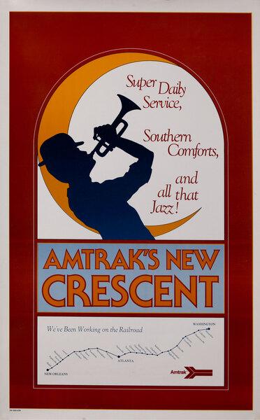 Amtrak's New Cresent Rail Poster