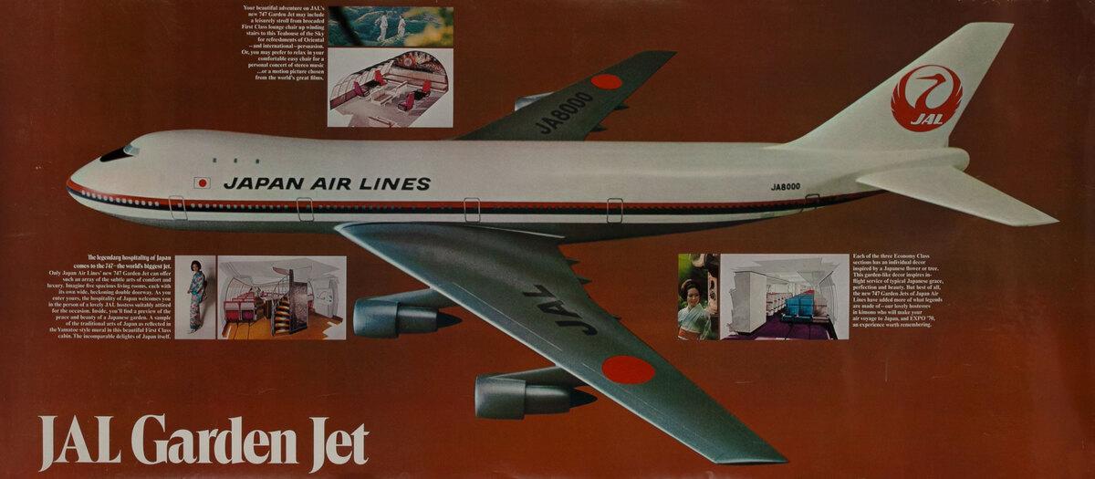 Japan Air Lines JAL Garden Jet 747