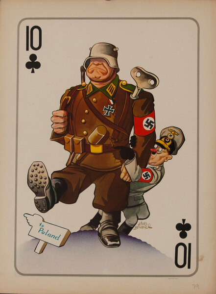 10 CLubs Hitler on His Invasion of Poland - WWII Satire Playing Card
