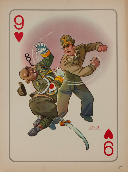 9 of Hearts - WWII Satire Playing Card