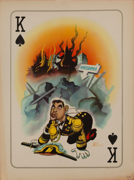 WWII Satire Playing Card - King of Spades