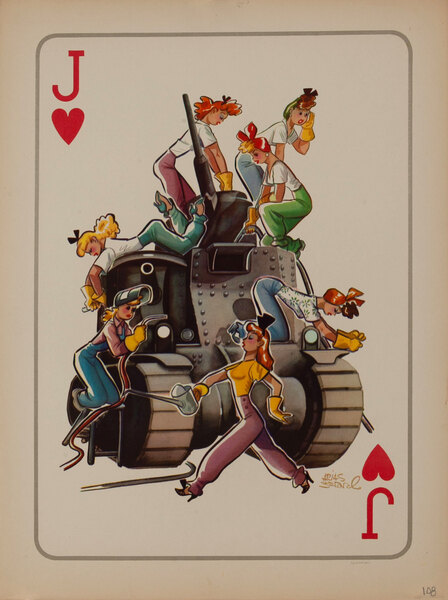 WWII Satire Playing Card - Jack of Hearts