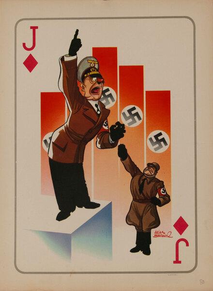 Jack of Diamonds WWII Satire Playing Card