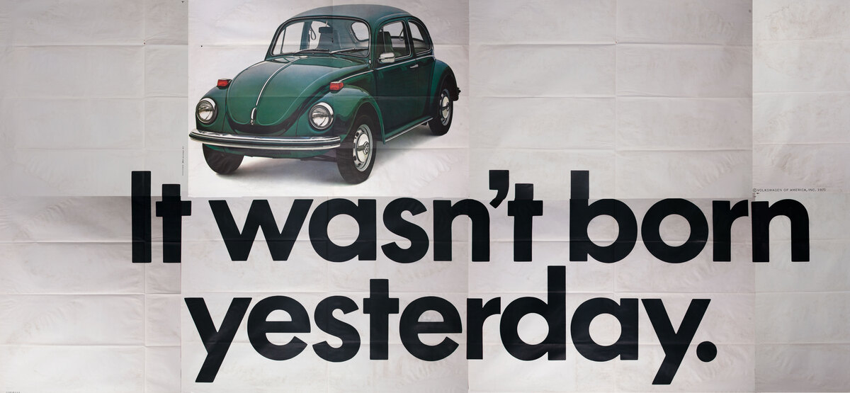 It wasn't born yesterday. VW Bug billboard