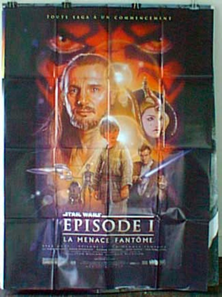 Star Wars Phantom Menace Original French Movie Poster