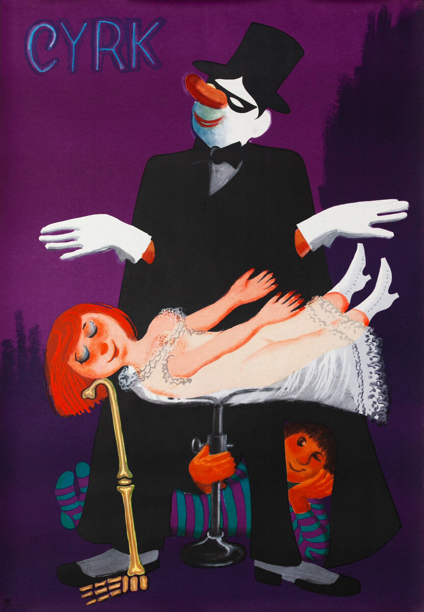 Cyrk Original Polish Circus Poster, Levitation Act