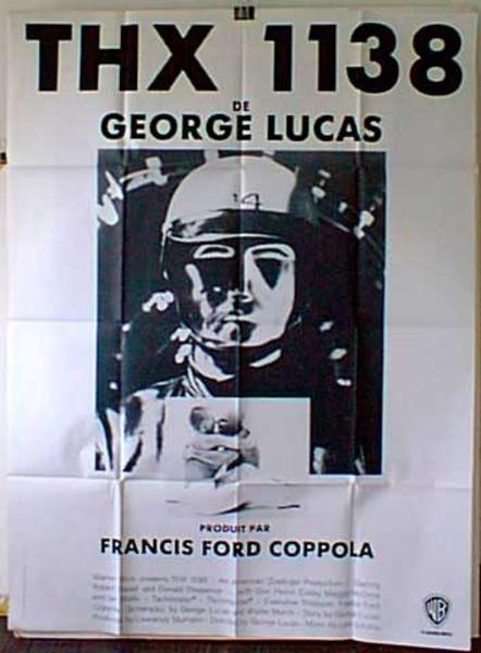 THX 1138 Original French Movie Poster