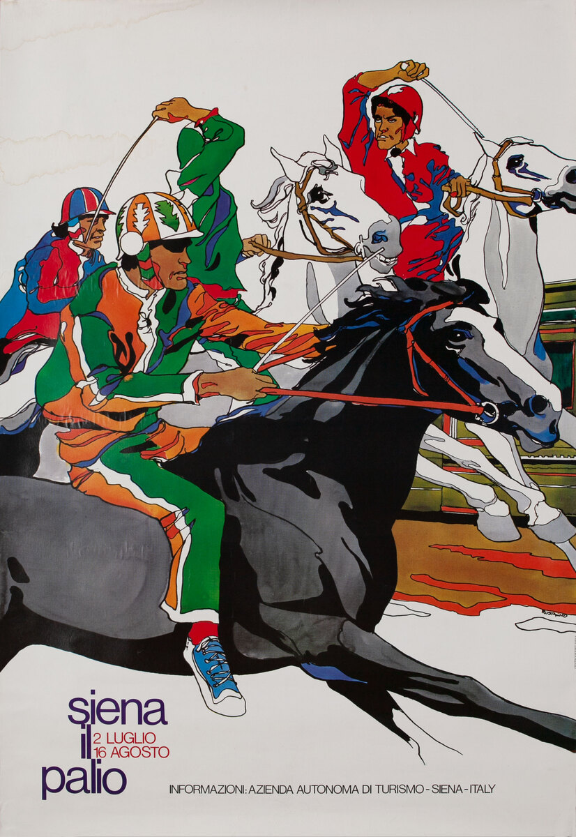 Sienna Italy -  Sienna il Paglio Horserace Poster