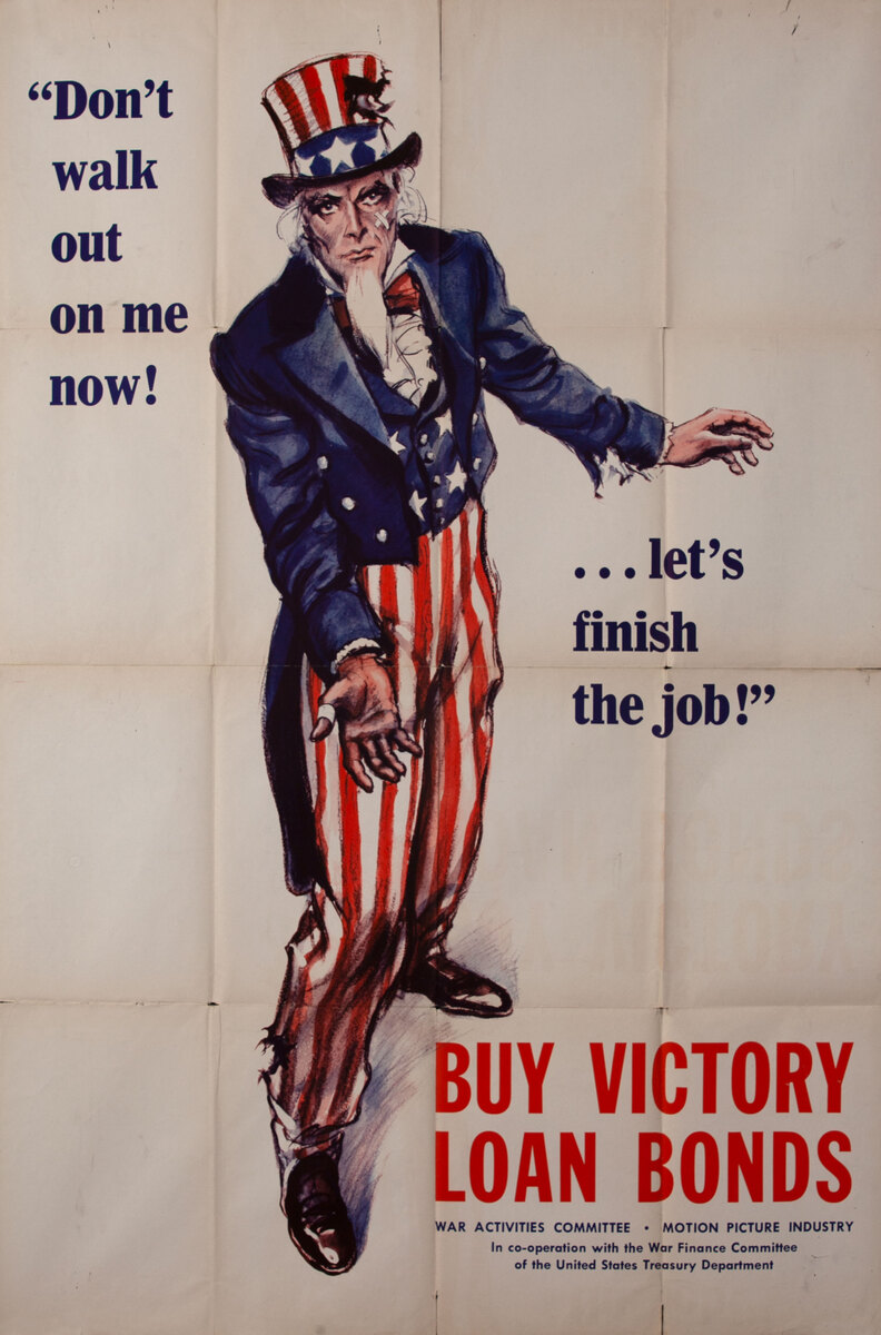 Buy Victory Loan Bonds, Life Size Uncle Sam WWII Poster