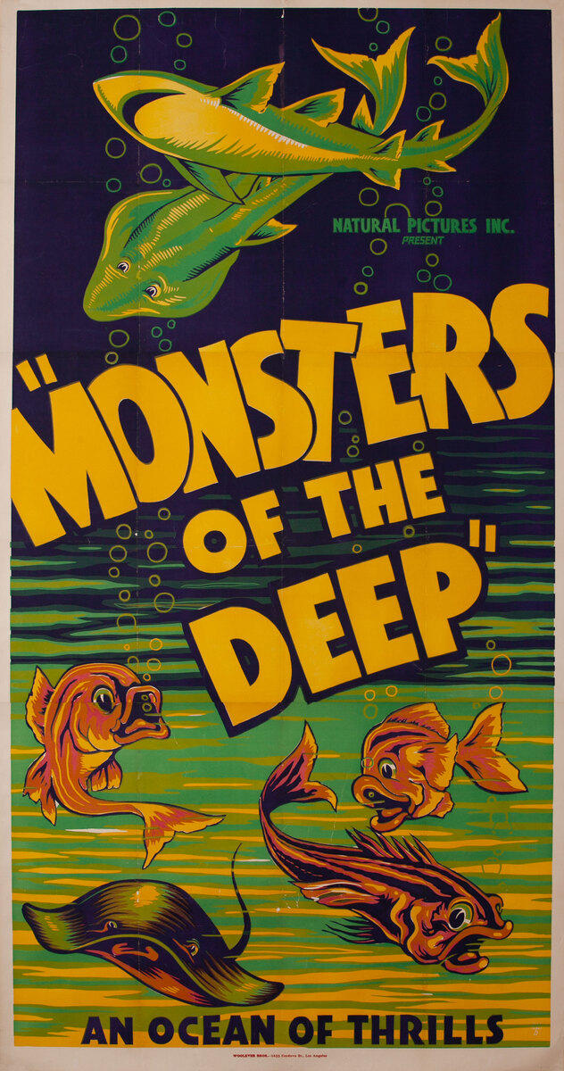 Monsters of the Deep An Ocean of Thrills 3 Sheet Movie poster